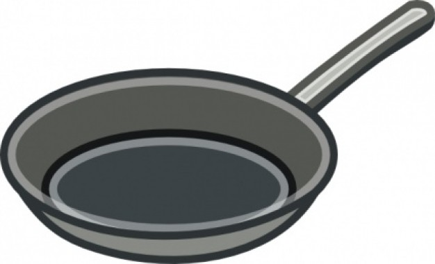 Skillet pan clipart.
