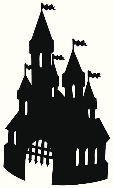 Castle Turret Silhouette Clip Art, Vector Images & Illustrations.