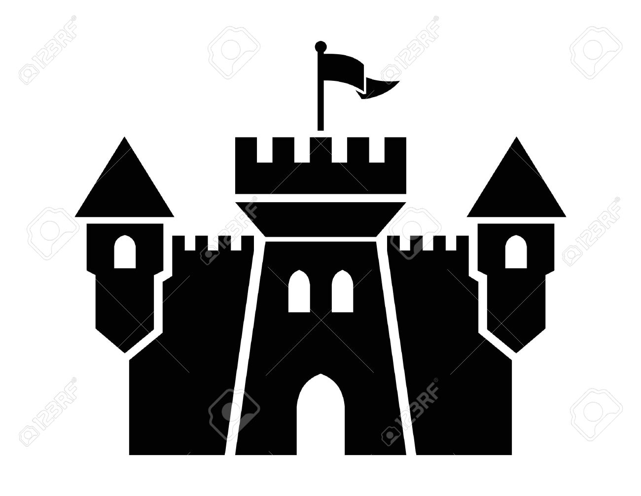 9,256 Castle Silhouette Cliparts, Stock Vector And Royalty Free.