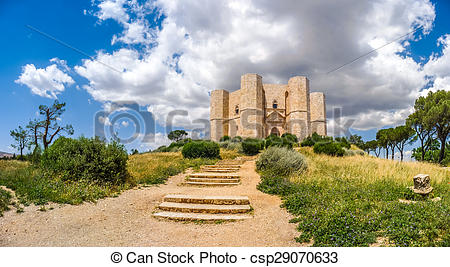 Stock Photos of Beautiful view of Castel del Monte, the famous.