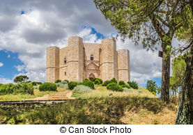 Stock Photo of Historic and famous Castel del Monte in Apulia.