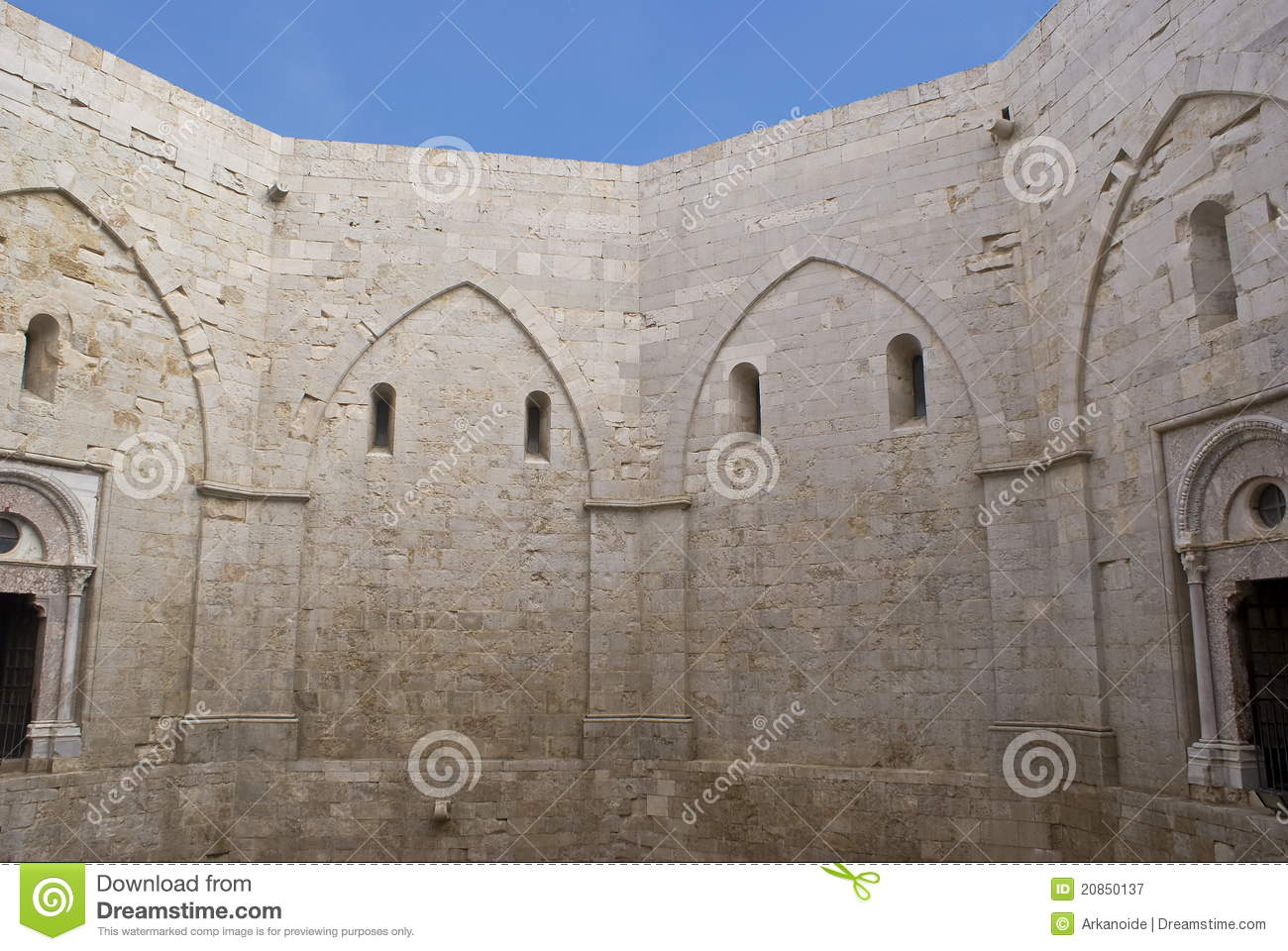 Castel Del Monte Royalty Free Stock Photography.