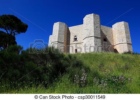 Stock Photo of Castel del Monte, castrum Sancta Maria de Monte.