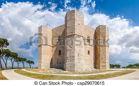 Stock Photography of Beautiful view of Castel del Monte, the.