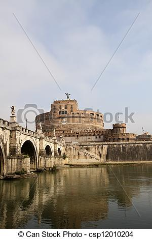 Stock Photography of Castel Sant' Angelo, Rome, Italy csp12010204.