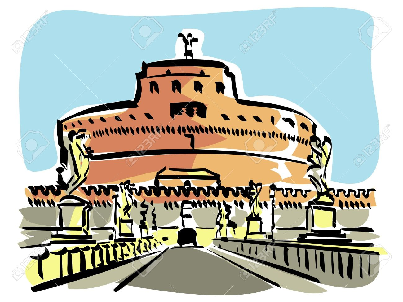 Rome (Castel S.Angelo) Royalty Free Cliparts, Vectors, And Stock.