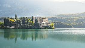 Castel Toblino At Beautiful Lago Di Santa Massenza Lake In Santa.