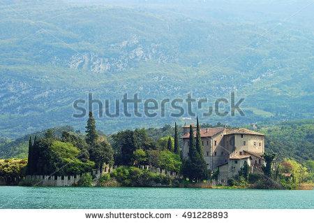 Toblino Castle Stock Photos, Royalty.