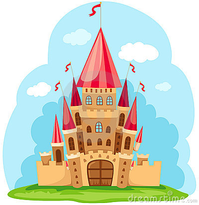 Cartoon Castle Stock Illustrations.