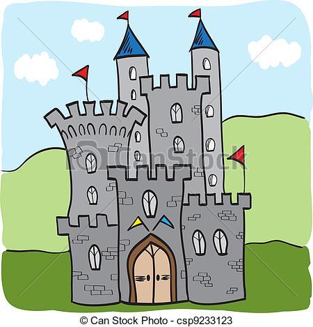 Vettori di Regno, castello, Fairytale, stile, cartone animato.