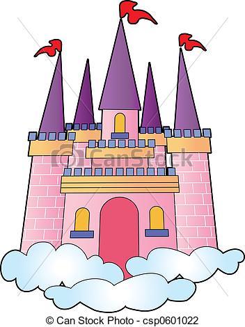 Clipart di castello, sogno.