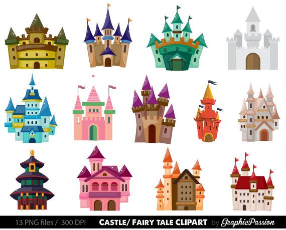 Castello ClipArt. Clipart del Castello dei bambini. Clipart di.