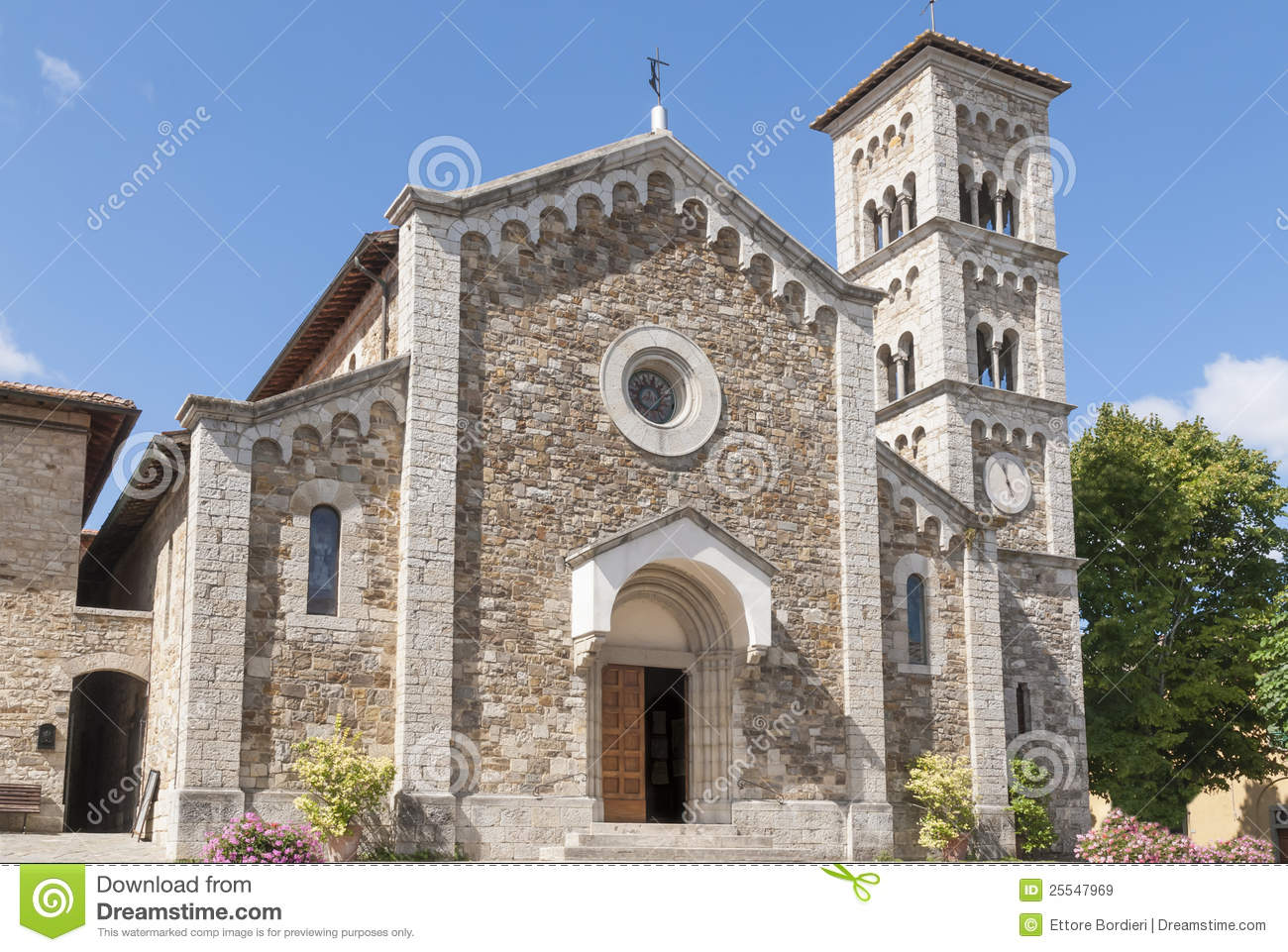 Church Of St. Savior In Castellina In Chianti Royalty Free Stock.