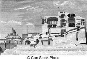 Castel sant angelo vintage engraving Stock Illustrations. 4 Castel.