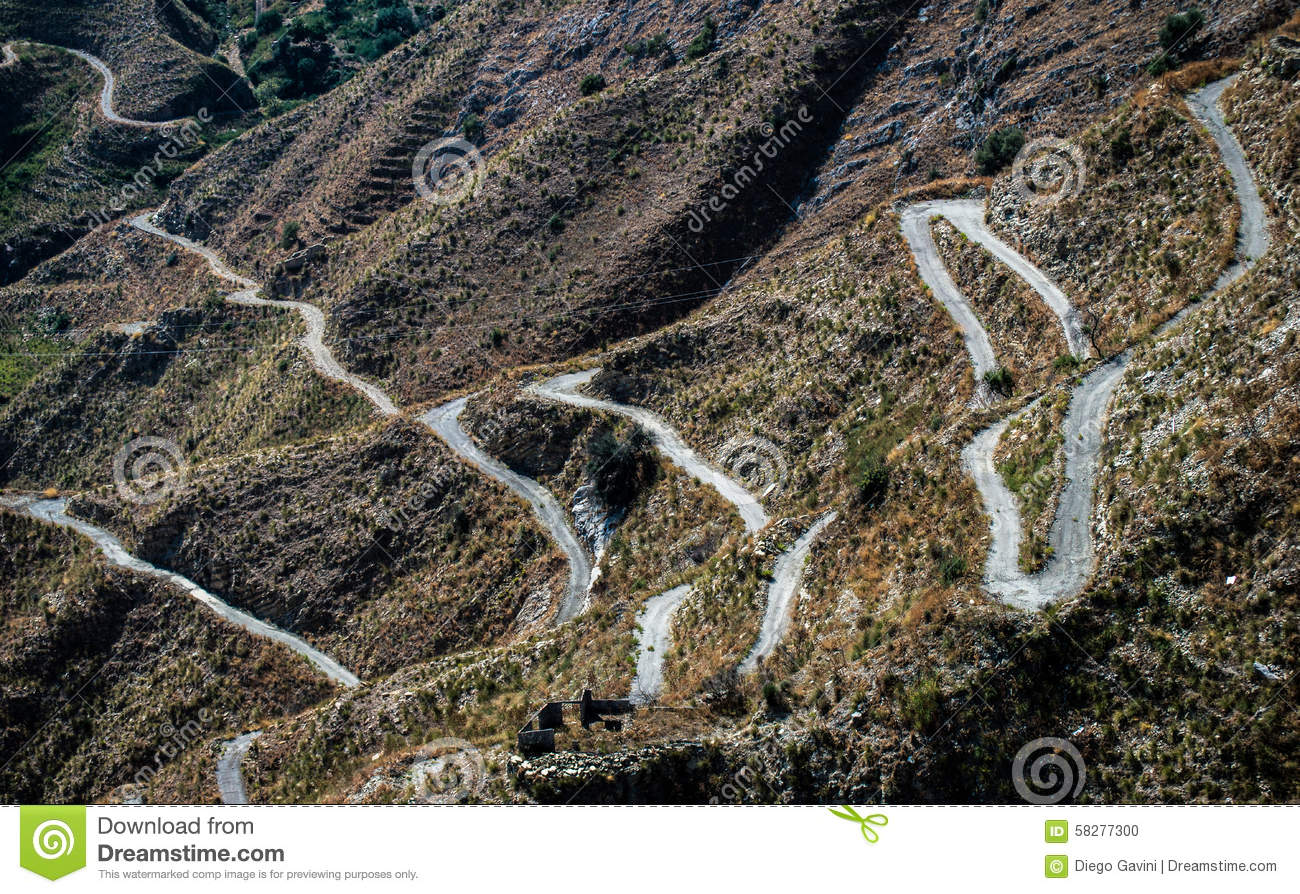 A Snake Road Stock Photo.