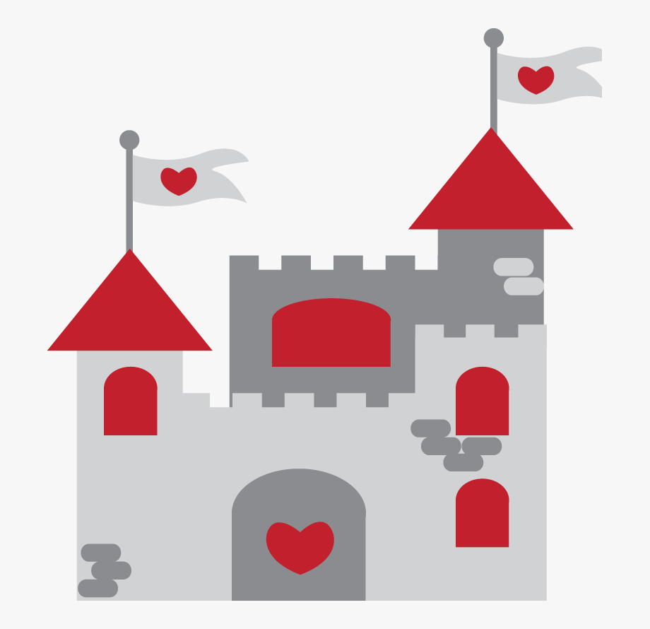 Fairy Tale Clipart Red Castle.