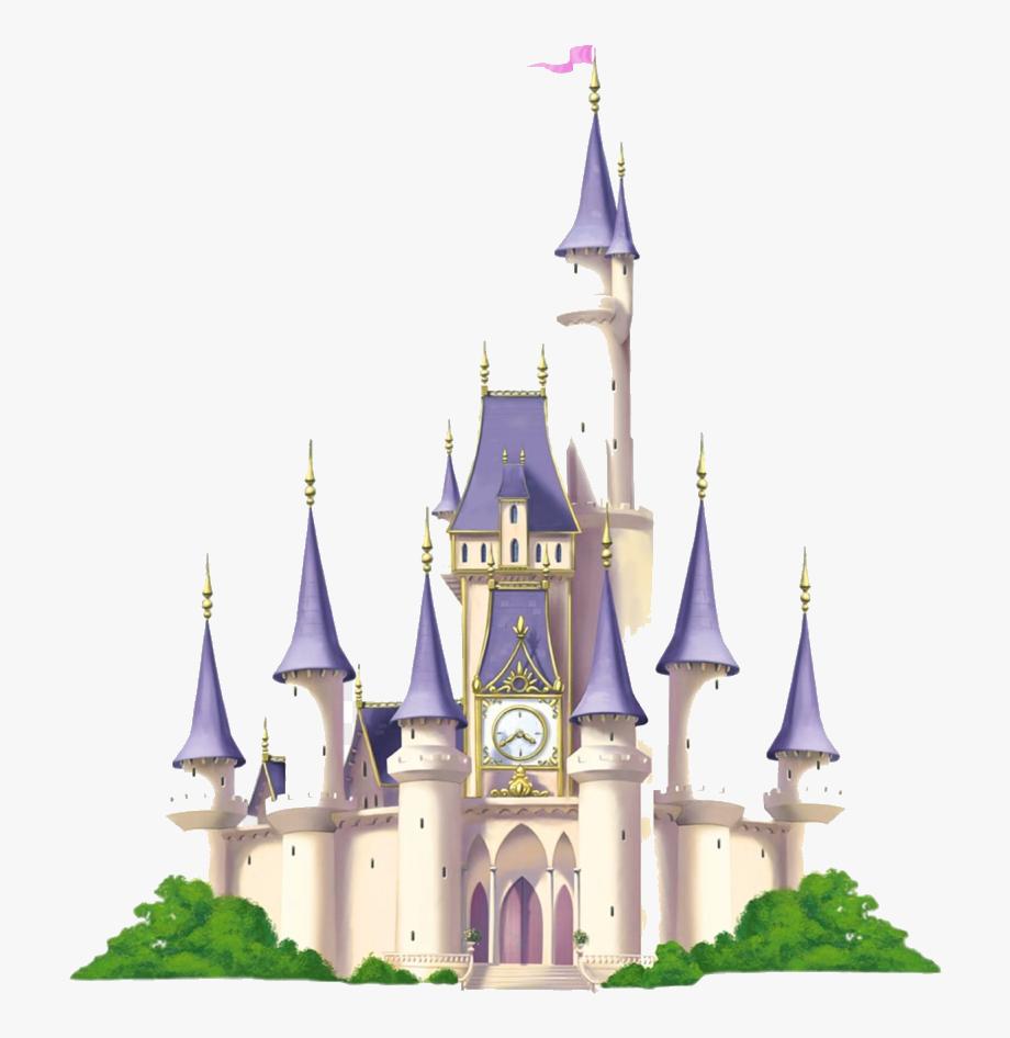 Disney Castle Cinderella Clipart Transparent Background.