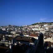 Pictures of Lisbon, Portugal. The old town and St. George's Castle.