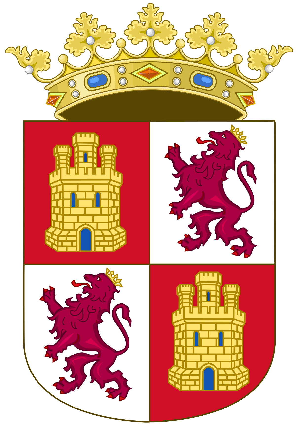 Coat of arms of Castile and León.