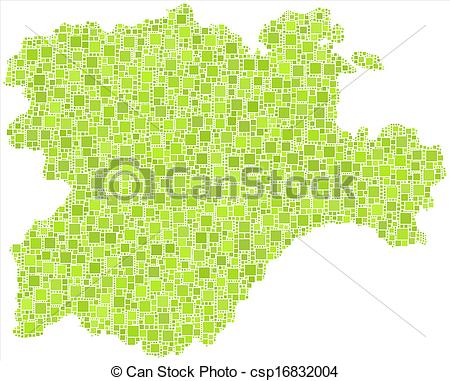 Vector Clipart of Isolated map of Castile and Leon.