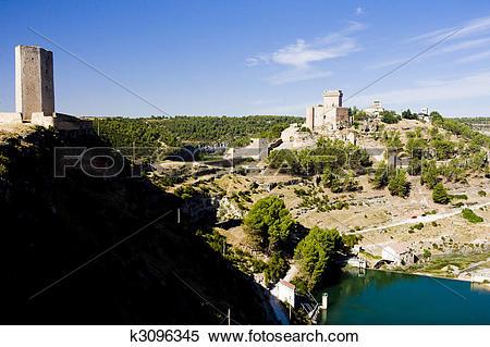 Stock Image of Marques de Villena Castle, Alarcon, Castile.