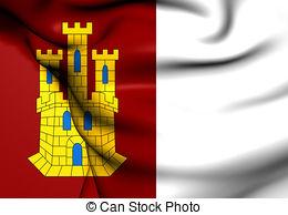 Clip Art of Flag of Castile.