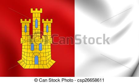 Clipart of Flag of Castile.