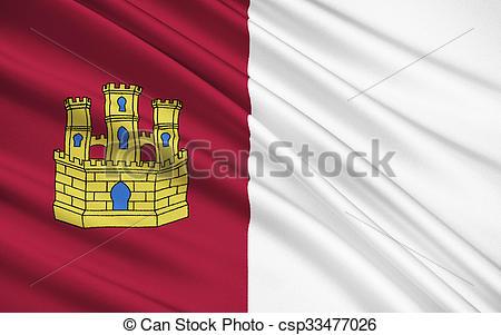 Clip Art of The flag of the Castilla.