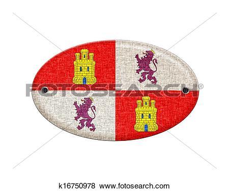 Stock Illustration of Wooden Castilla Leon flag. k16750978.