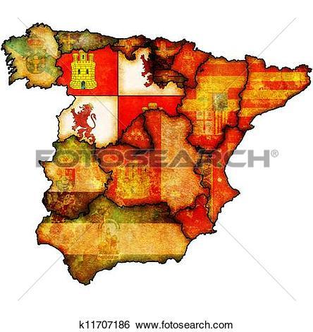 Stock Illustration of region of castilla and leon k11707186.