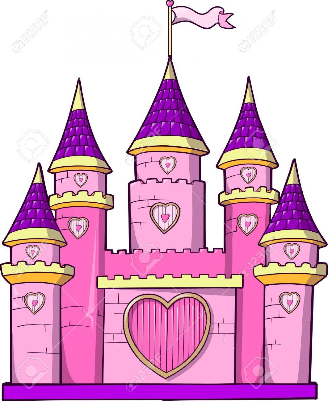 Free princess castle clip art.