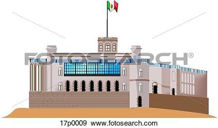 Clip Art of Castillo de Chapultepec 17p0009.