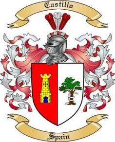 De Castillo Spanish Coat Of Arms www.4crests.com #coatofarms.