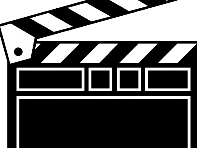 Download Clapperboard Clipart Black And White.