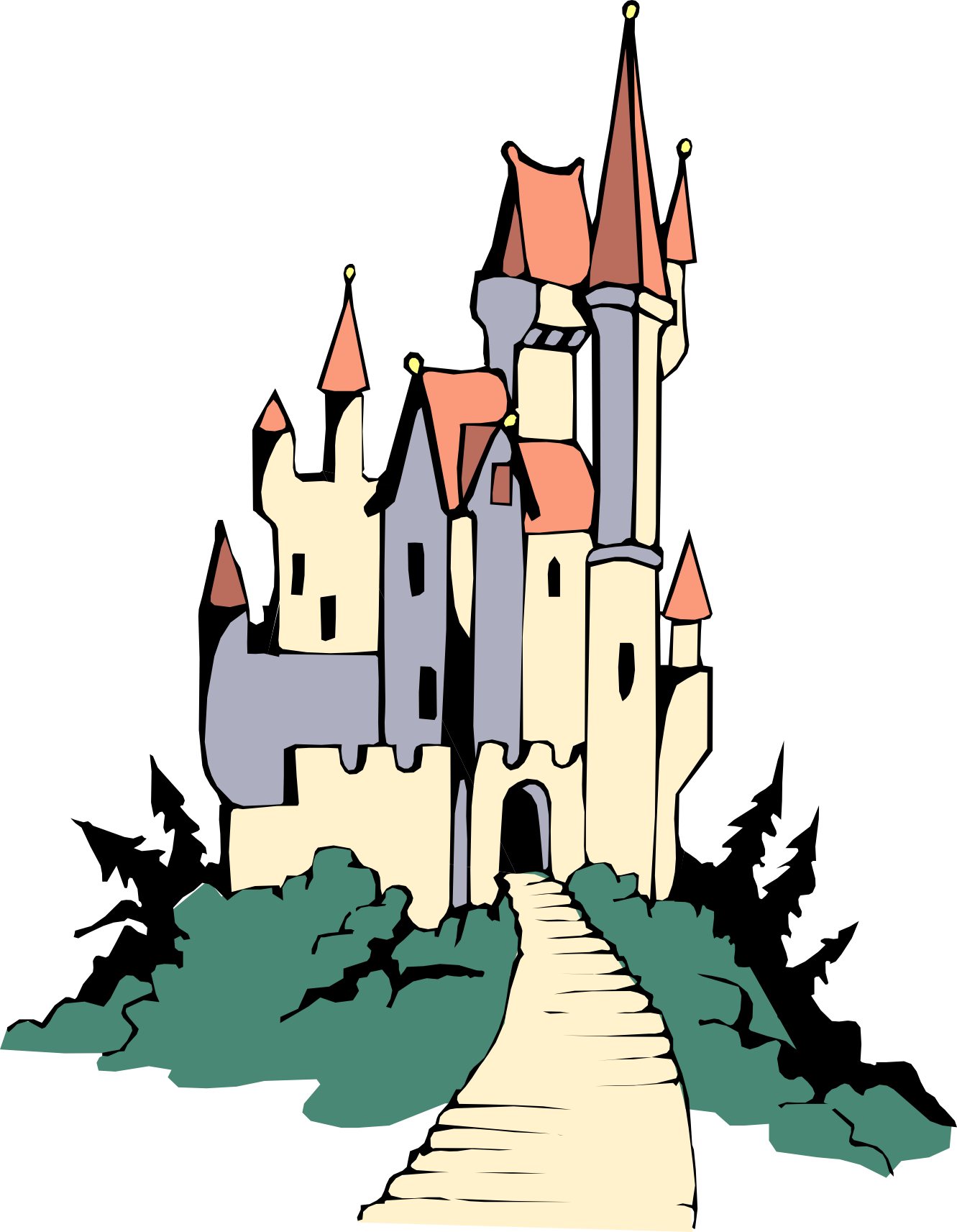 Neuschwanstein castle clipart #4