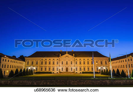 Stock Images of Bellevue Castle, Residence of German Federal.