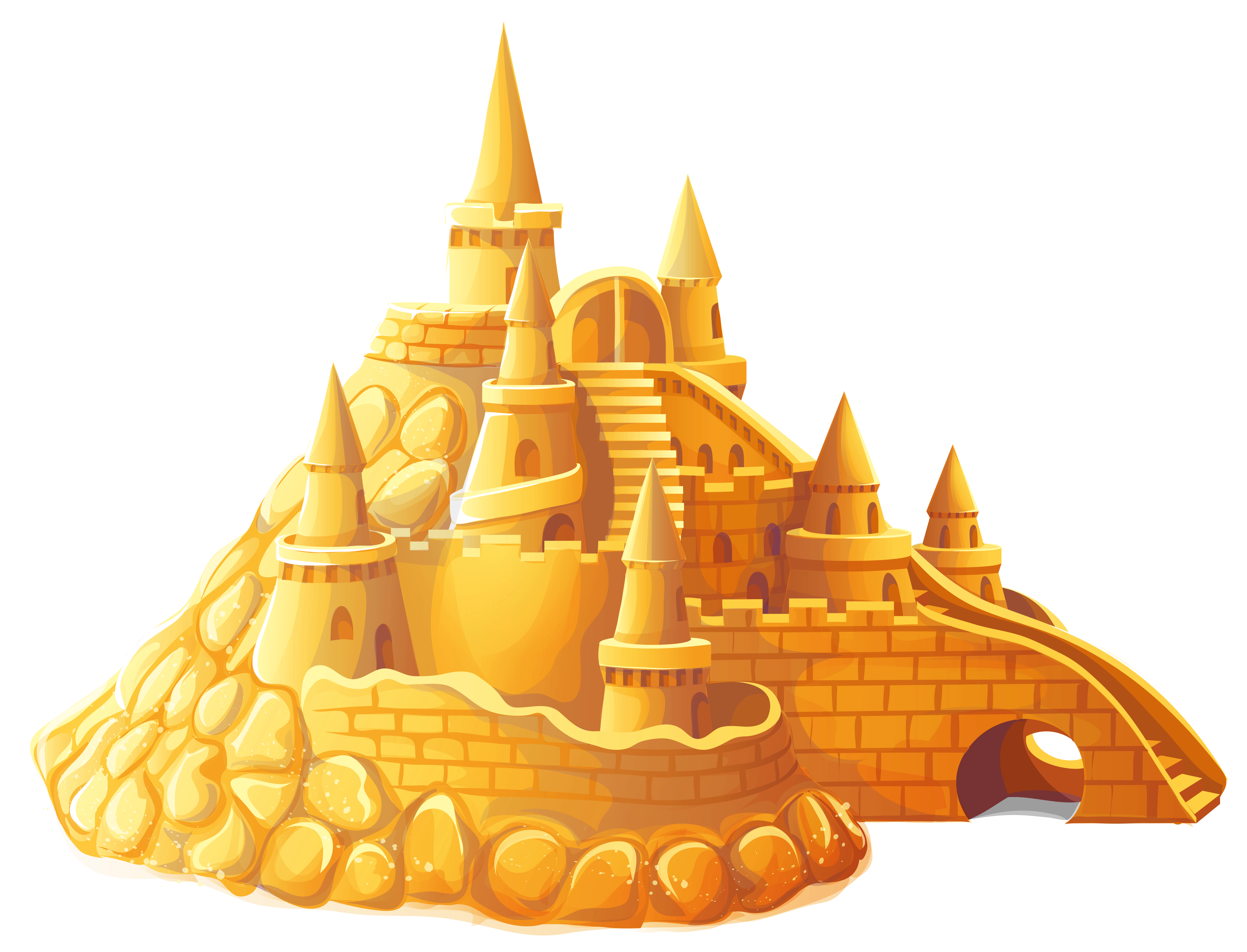 Transparent Sand Castle PNG Clipart.