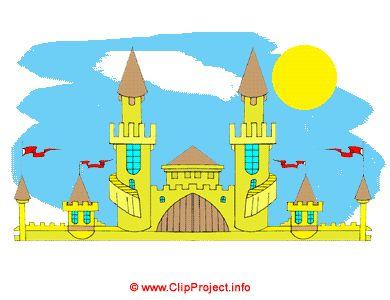 Castle architecture clip art, buildings cliparts free.