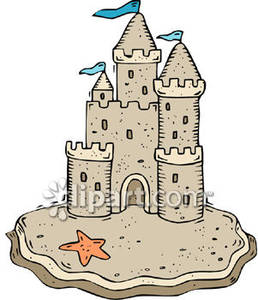 Sea Castle Clip Art.