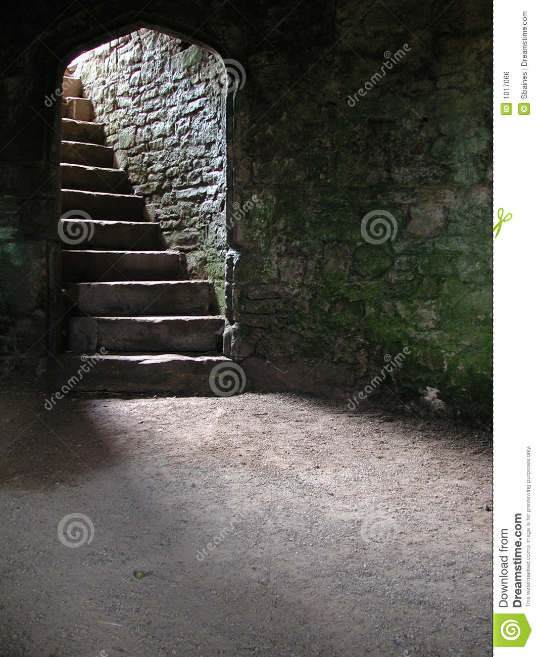 Stairway In Castle Cellar/Dungeon Royalty Free Stock Image.
