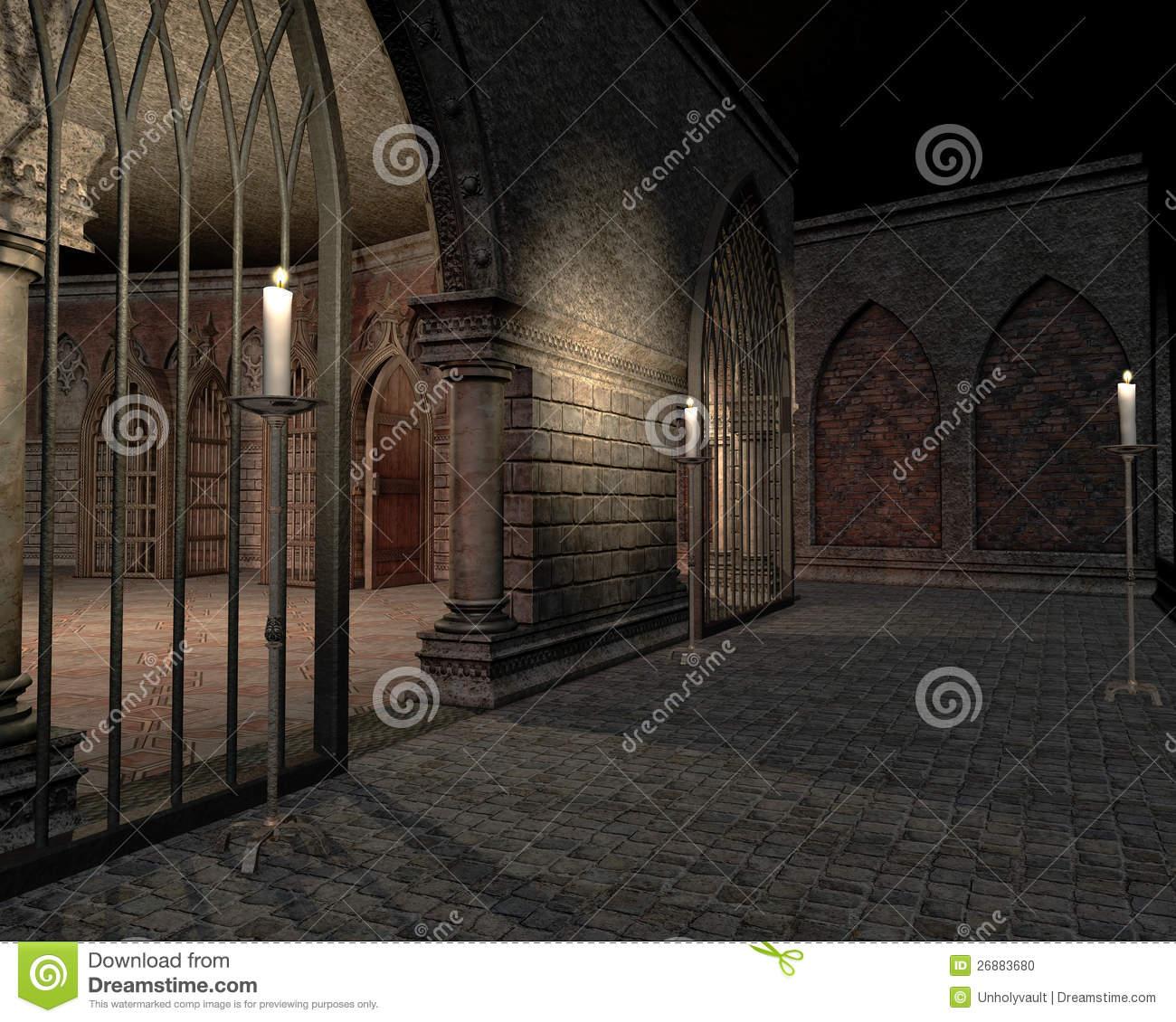 Castle Interior Stock Illustrations.