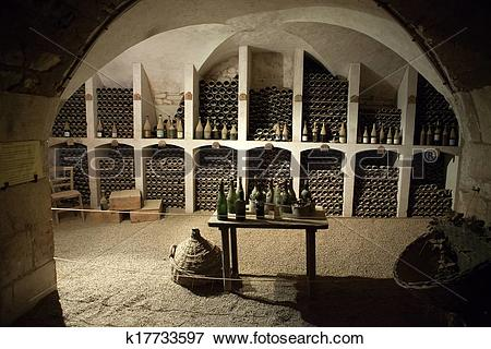 Picture of The cellar to the storage of wine in the castle.