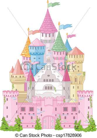 Vector Clipart of Fairy Tale Castle.