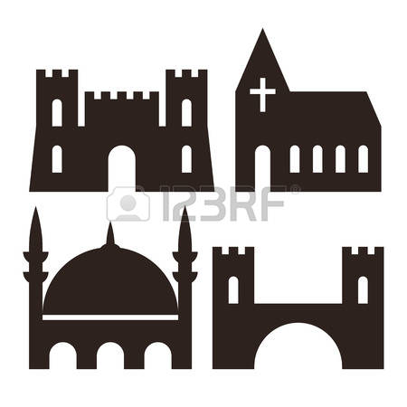 873 Castle Bridge Stock Vector Illustration And Royalty Free.