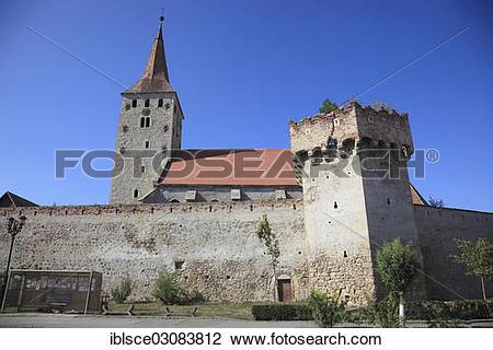 "Stock Photo of ""Castle Church of Aiud, Aiud, deutsch Strassburg am."