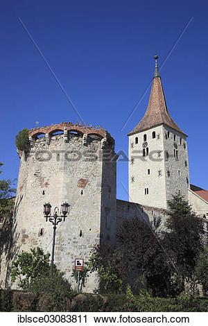"""Stock Photography of """"Castle Church of Aiud, Aiud, deutsch."""