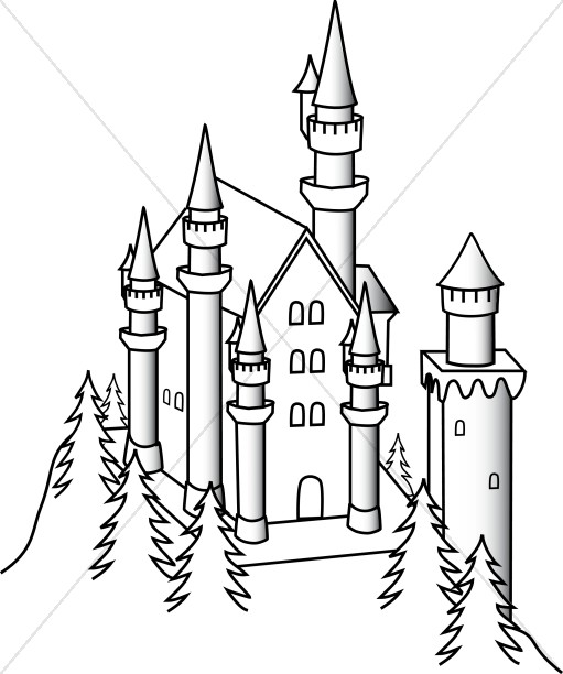 Castle and Drawbridge.