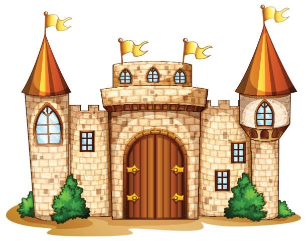 Best Castle Entrance Illustrations, Royalty.