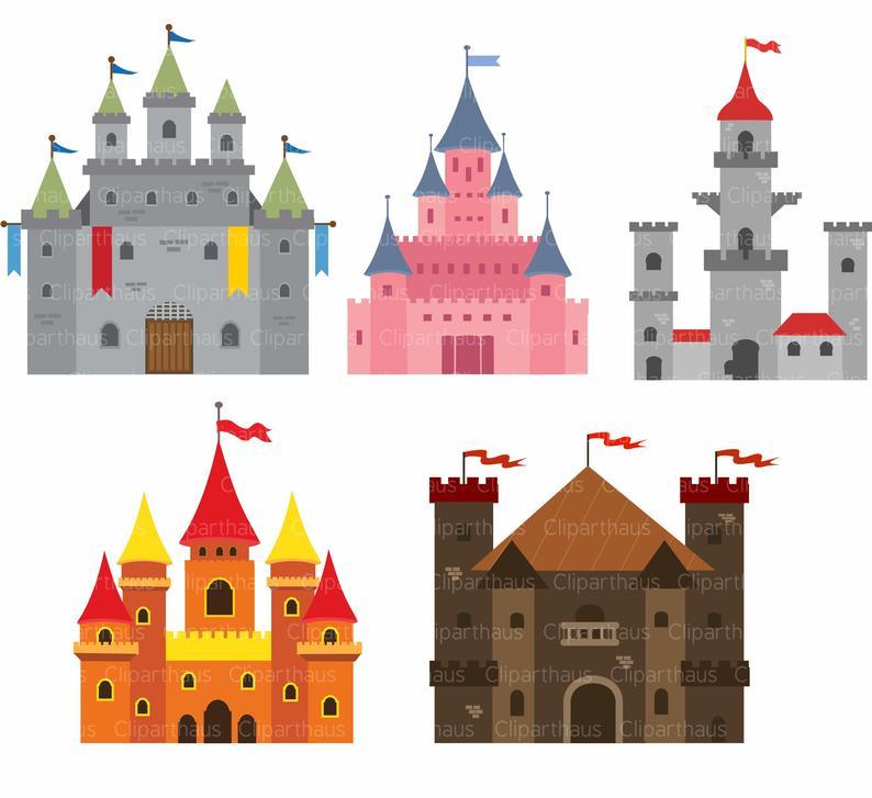 Castle clipart, Castle clip art, Clipart Castle, Castle SVG, Clip art  Castle,Princess Castle, Fairytale Castle, SVG Files, Instant Download.