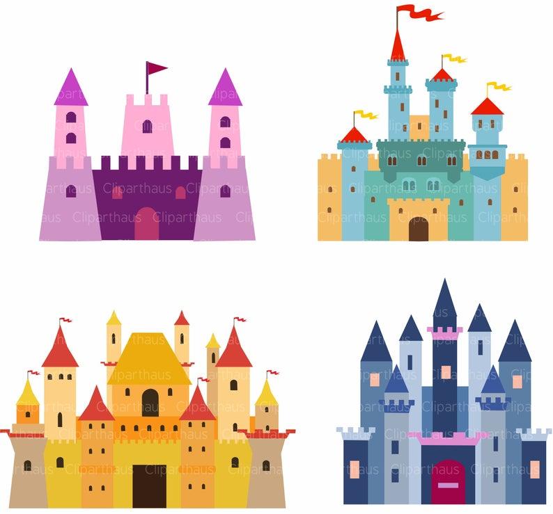 Castle clipart, Castle clip art, Clipart Castle, Castle svg, Clip art  Castle, Princess Castle, Fairytale Castle, Instant Download, SVG Files.